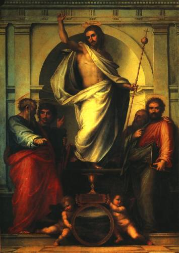 Christ with the Four Evangelists