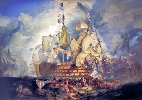 Joseph Turner. Battle of Trafalgar
