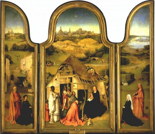 Hieronymus Bosch. Epiphany (Triptych).