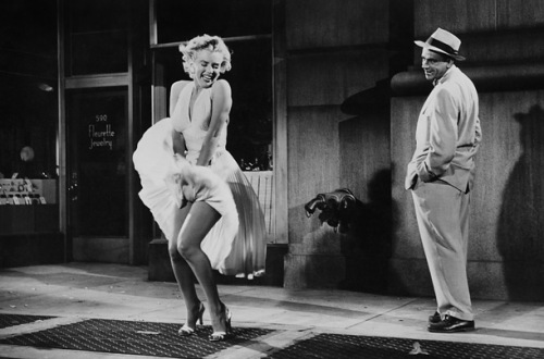 "Marilyn. Monroe. Tom Ewell. ""The Seven Year Itch"" 1955"