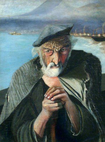 Tivadar Kosztka Csontváry. Old fisher