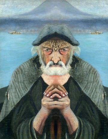 Tivadar Kosztka Csontváry. Old fisher. God