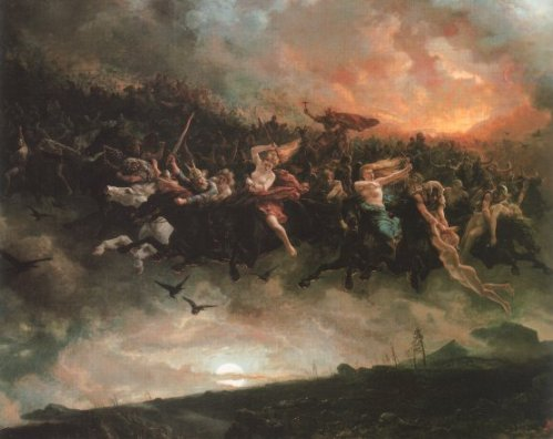P. N. Arbo. Odin leading the Wild Hunt. Nasjonalgalleriet, Oslo, 1872