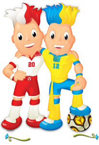 Slavek and Slavko. Euro 2012 Official Mascots