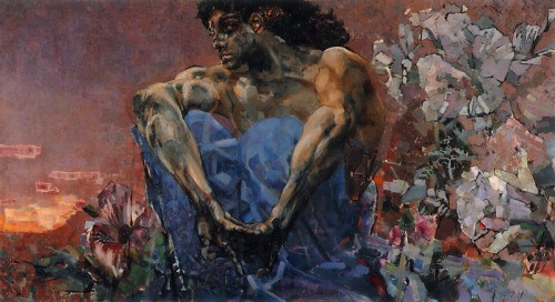 Mikhail Vrubel. The Seated Demon. 1890. Oil on canvas. The Tretyakov Gallery, Moscow, Russia