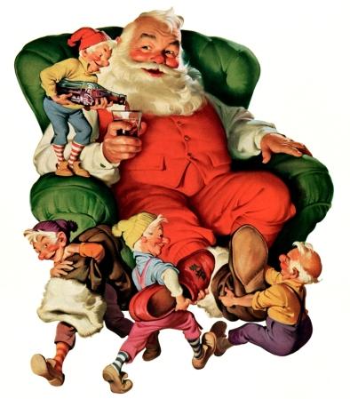 Coca-Cola Art - Christmas Santa