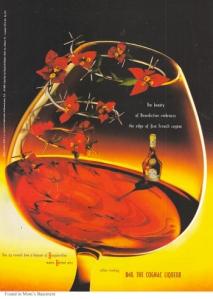 1997 cognac ad poster