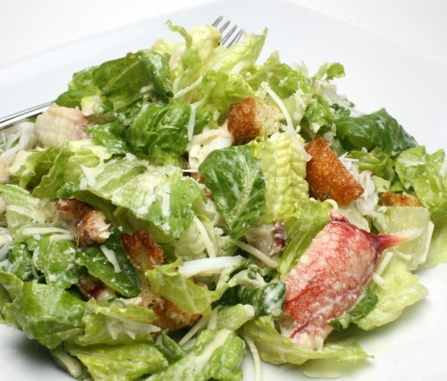 Caesar Salad with Crab