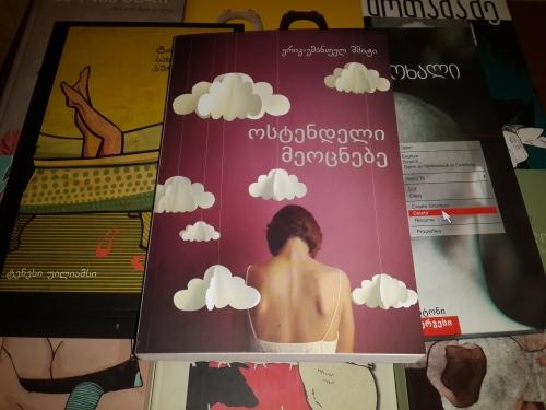 """ერიკ-ემანუელ შმიტი. """"ოსტენდელი მეოცნებე"""". გამომცემლობა """"პალიტრა L"""". თბილისი, 2013"""