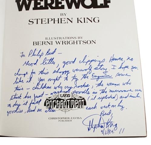 stephen king autograph